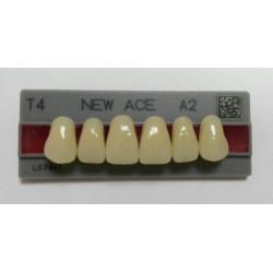 Зубы NEW ACE Naperce Цвет A2 фронт. гр. размер T4 (верх)