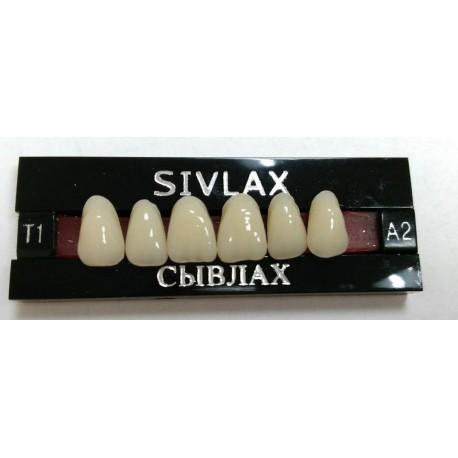 Зубы SIVLAX Цвет A2 фронт. гр. размер Т6 (верх)