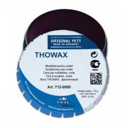 Воск моделировочный THOWAX, фиолетовый. жестяная банка 70г