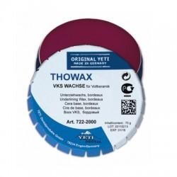 Воск для вкладок THOWAX, цвет бордовый, 70 г