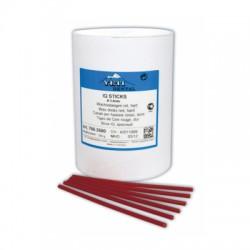 Штиксы восковые круглые твёрдые красные d-3,5мм, упаковка 250 г