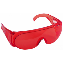 Очки защитные красные с боковой вентиляцией STAYER STANDARD